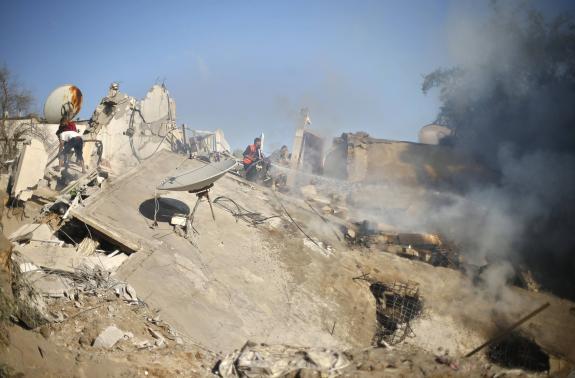 air strike in Gaza City