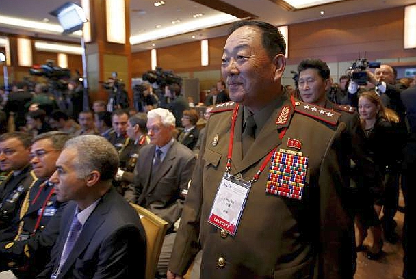 File photo of senior North Korean military officer Hyon Yong Chol attending the 4th Moscow Conference on International Security (MCIS) in Moscow